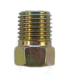 "A1-3 - 3/8"" x 24 unf male fully threaded steel nut,  .562"" long overall"