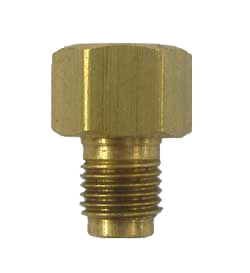 "AD3br - Screw 1/4"" line into female port to adapt to 3/16""/4.75mm line port hole - brass"