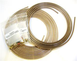 "3/16""/4.75mm and 1/2 coil of 1/4"" brake tubing with 1 #2 and 1 #4 nut pack"