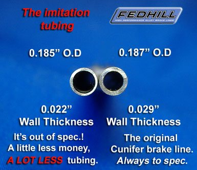 Fedhill brake line beats the compitition.