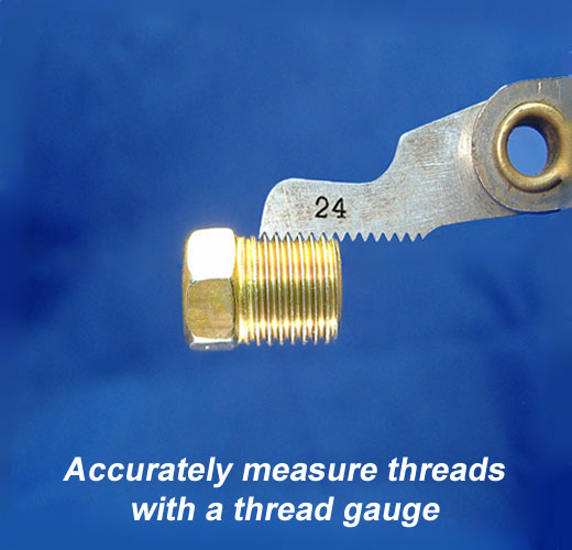 How to measure the thread pitch of brake line nuts