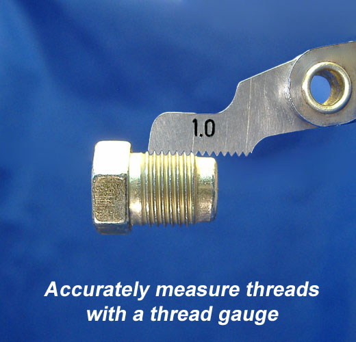 How to measure the threads of metric brake lines.