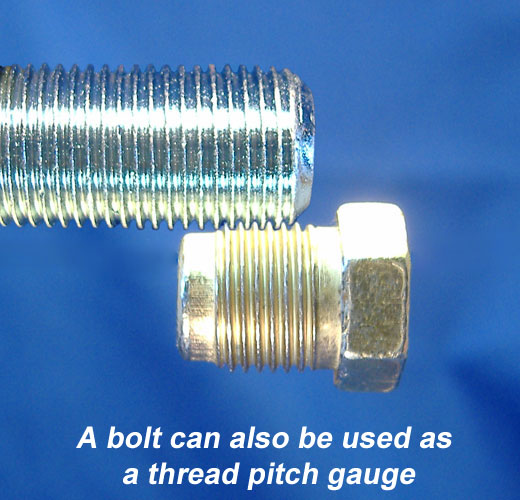 How to measure the threads of brake line nuts without tools
