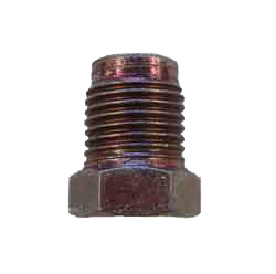 "A15-3 - 1/2"" x 20 unf male steel nut with non threaded lead, .755"" long overall"