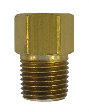"AD1br - Screw 3/16""/4.75mm line into female port to adapt to 1/8"" NPT port hole - brass"