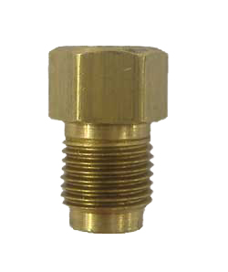 "AD2br -  Screw 3/16""/4.75mm line into female port to adapt to 1/4"" line port hole- brass"