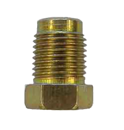 M1-3 - 10mm x 1.0 Fine thread, male nut with non-threaded lead - SAE flare or DIN flare