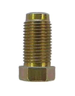 M1L-3 - 10mm x 1.0 Fine thread, male nut with non-threaded lead - Long Style- SAE flare or DIN flare