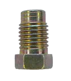 M4-3 - 10mm x 1.25 male steel nut with non-threaded lead - SAE flare or DIN flare