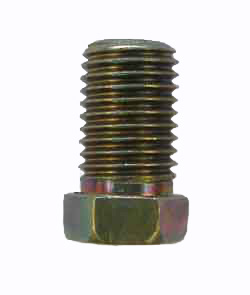 M7L-3 - 10mm x 1.25 male fully threaded steel nut - Long Style - SAE flare