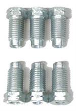 6 pack of P30-3 british brake line nuts 45 degree/inverted/double or bubble/ISO flare
