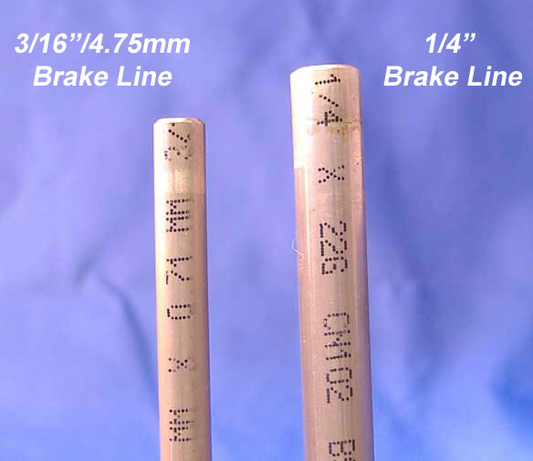 How to find out the size of a brake line